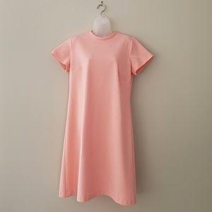 Vintage 1960 Short Sleeve Pink Shift Dress